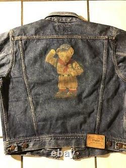 Vintage Ralph Lauren Polo Bear Denim Jacket