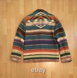 Vintage Ralph Lauren Polo Country Aztec Indian Jacket Sportsman Stadium 1992