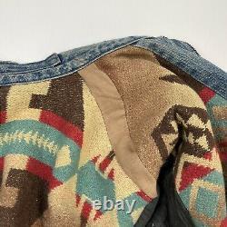 Vintage Ralph Lauren Polo Country (L) Southwestern Navajo Blanket Denim Jacket
