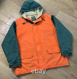 Vintage Ralph Lauren Polo Country Puffer Down Jacket Coat Sz XL Orange Flaws