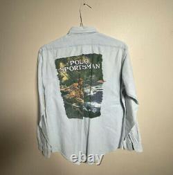 Vintage Ralph Lauren Polo Country Sportsman Shirt Wildlife Stadium USA 92 93