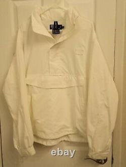 Vintage Ralph Lauren Polo Hi Tech Pullover Windbreaker Jacket Hood Large White