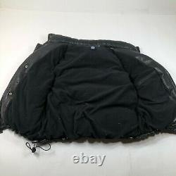 Vintage Ralph Lauren Polo Sport Leather Puffer Vest Mens XL Black Down Filled