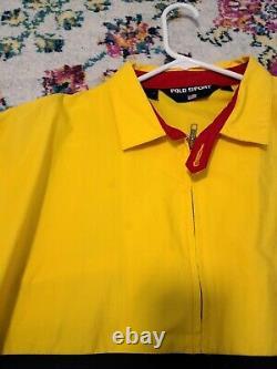 Vintage Ralph Lauren Polo Sport YELLOW spellout Jacket XL