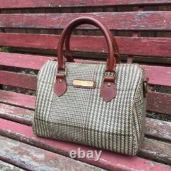 Vintage Ralph Lauren Polo Women's Handbag Purse Bag Brown PLAID With Wallet