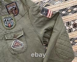 Vtg Polo Ralph Lauren Large Custom Fit Nepal Himalayas Expedition Rugby patches