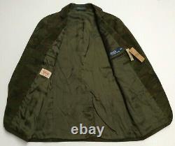 Vtg Polo Ralph Lauren Military US Army Camo Officer Sport Coat Blazer Jacket 38R