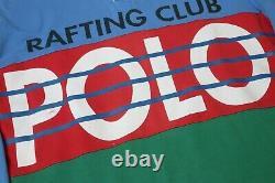 Vtg Polo Ralph Lauren Rafting Club L/S Rugby Shirt L 92 93 Sport Stadium