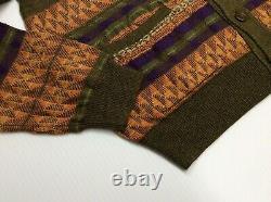 Vtg Polo Ralph Lauren Southwestern Aztec Indian Tribal Knit Sweater Cardigan Men