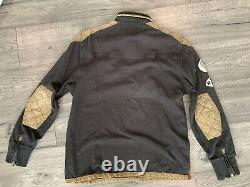 Vtg Polo Ralph Lauren Sz L Motorcycle Riders Assco L/S Rugby Shirt Patches