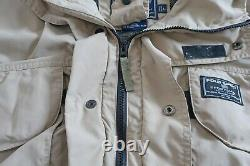 Vtg Polo Sport Ralph Lauren Sportsman Windbreaker Hi Tech Khaki Jacket Large