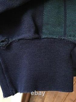 Vtg Polo by Ralph Lauren 1993 Athletic Department Plaid Blue Green L/S Men's XL