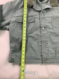 Vtg Ralph Lauren Polo Country Denim Jacket Medium USA Made Coat Barn Chore Green