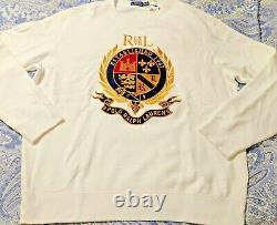 XX-LARGEPolo Ralph Lauren Crest Sweatshirt Vintage CP93 Hi Tech Ski92Pwing